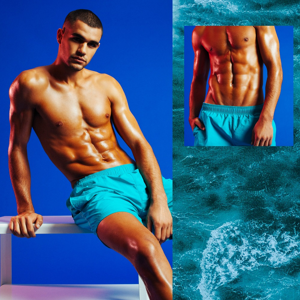 Boss-Swim shorts in quick-drying technical fabric, £45-web