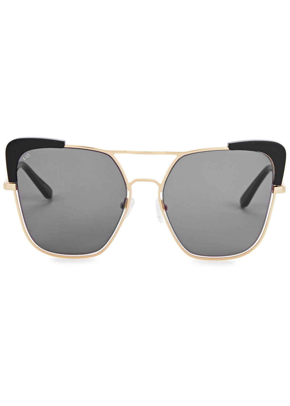For Art's Sake Capri gold tone oversized sunglasses, £178