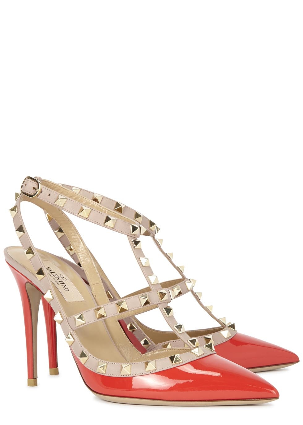 For her - Valentino patent Rockstud pumps, £615