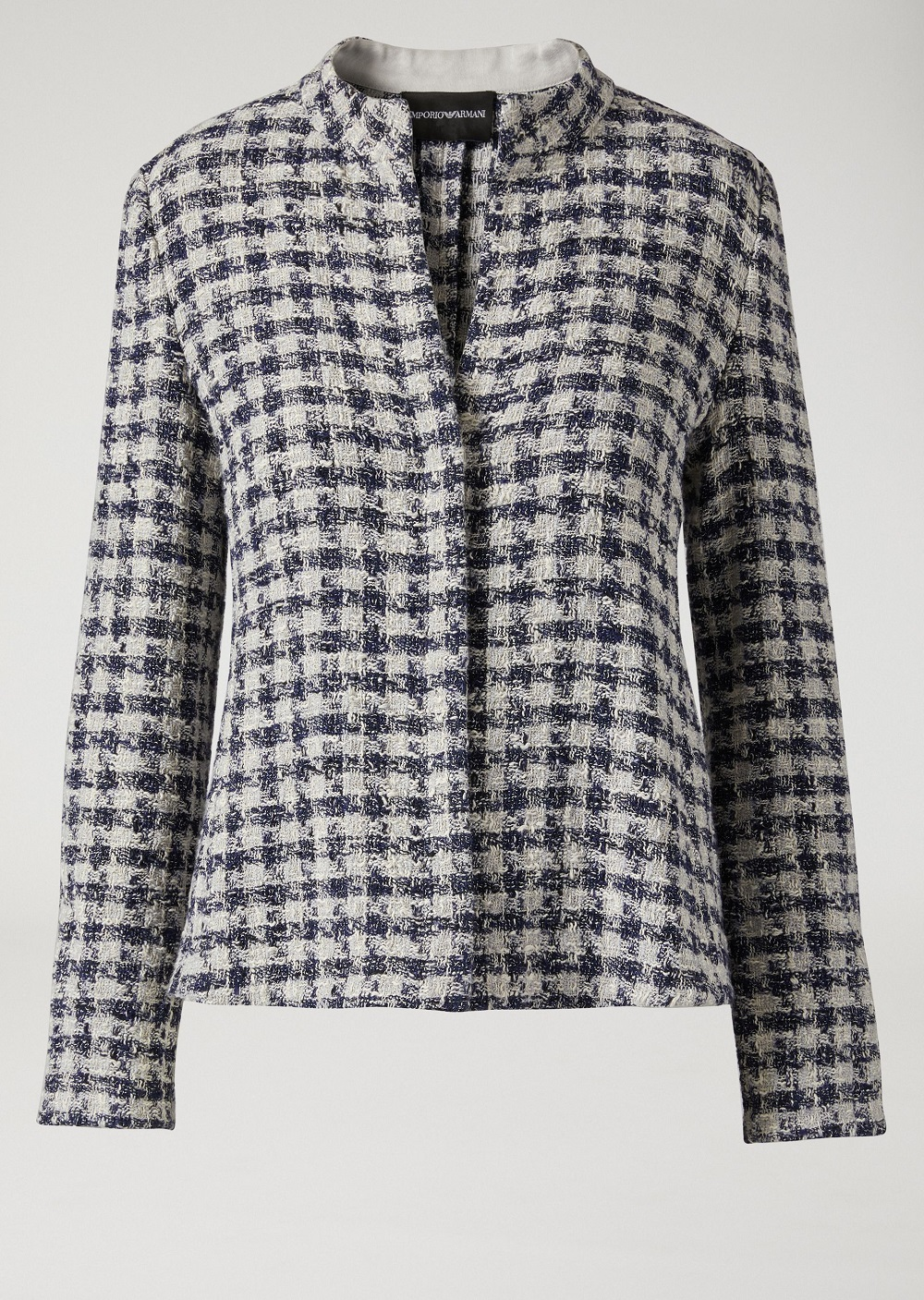 Single-breasted jacket in houndstooth-rsz