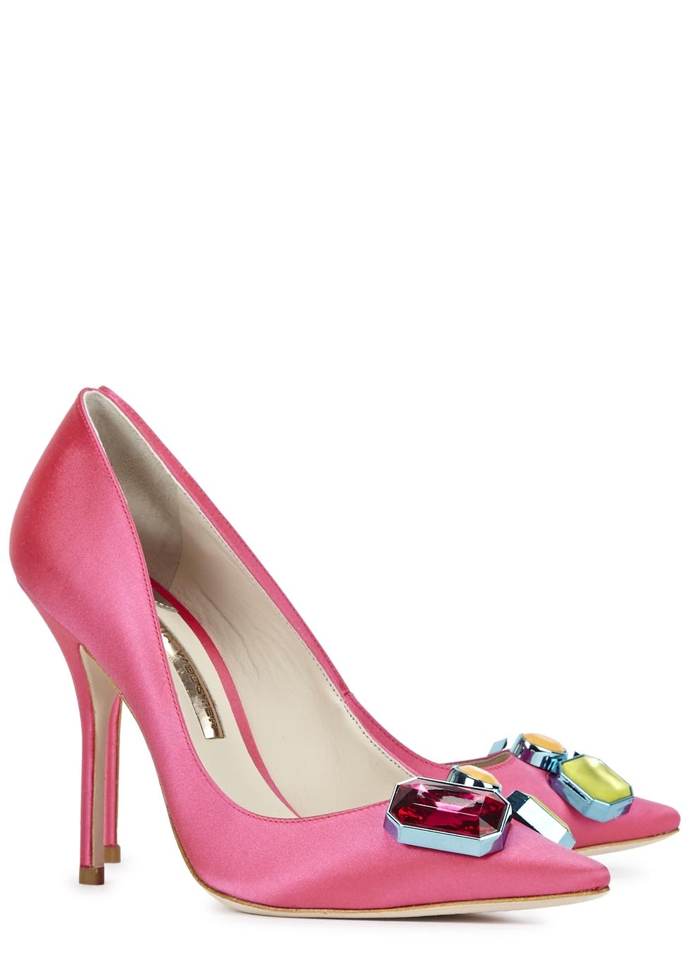 Sophia Webster Lola Gem satin pumps, was £340 - now £170